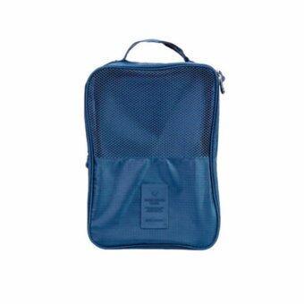 Travel Shoes Bag Storage Pouch Organizer Bag (Dark blue)