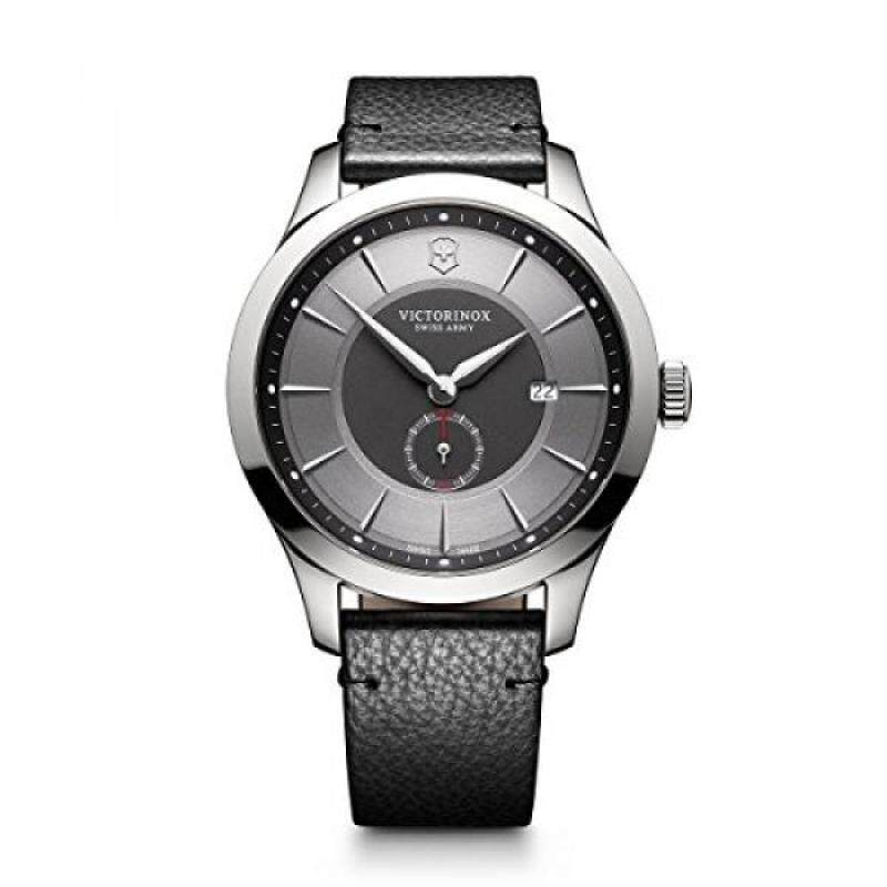 Victorinox Mens Maverick Swiss Quartz Stainless Steel and Leather Casual Watch, Color:Black (Model: 241786) Malaysia