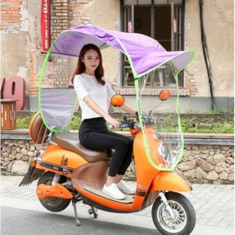 WI Electric bike canopy shading
