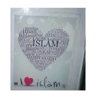 Windshield Sticker (i Love islam)