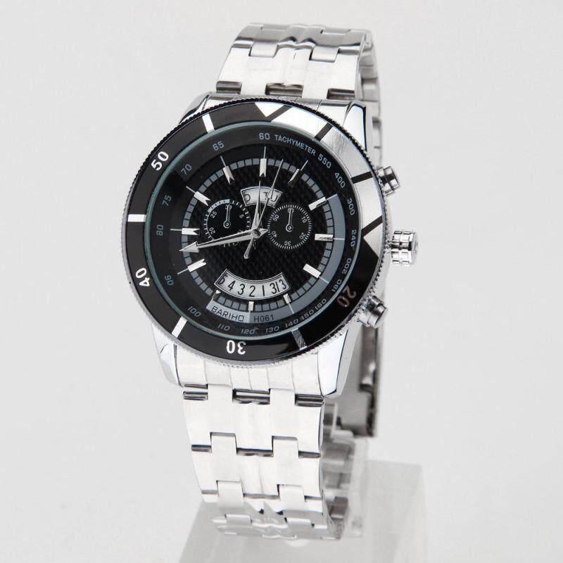 Womdee 2016 Waterproof Full Steel Mens Watch Fashion Quartz Watches Men Auto Date Clock Men Casual Luxury Relojes Hombre Free Shipping (Black) Malaysia