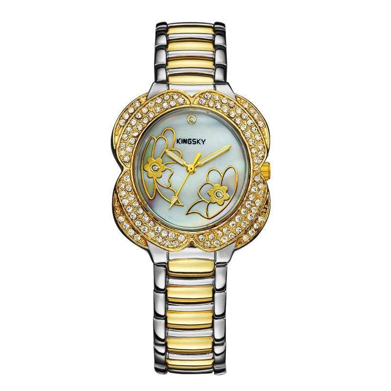Womdee Guangzhou kingsky quartz watch watch watch watch wholesale creative decorations Zhenbei hand twist drill (GoldSilver) Malaysia