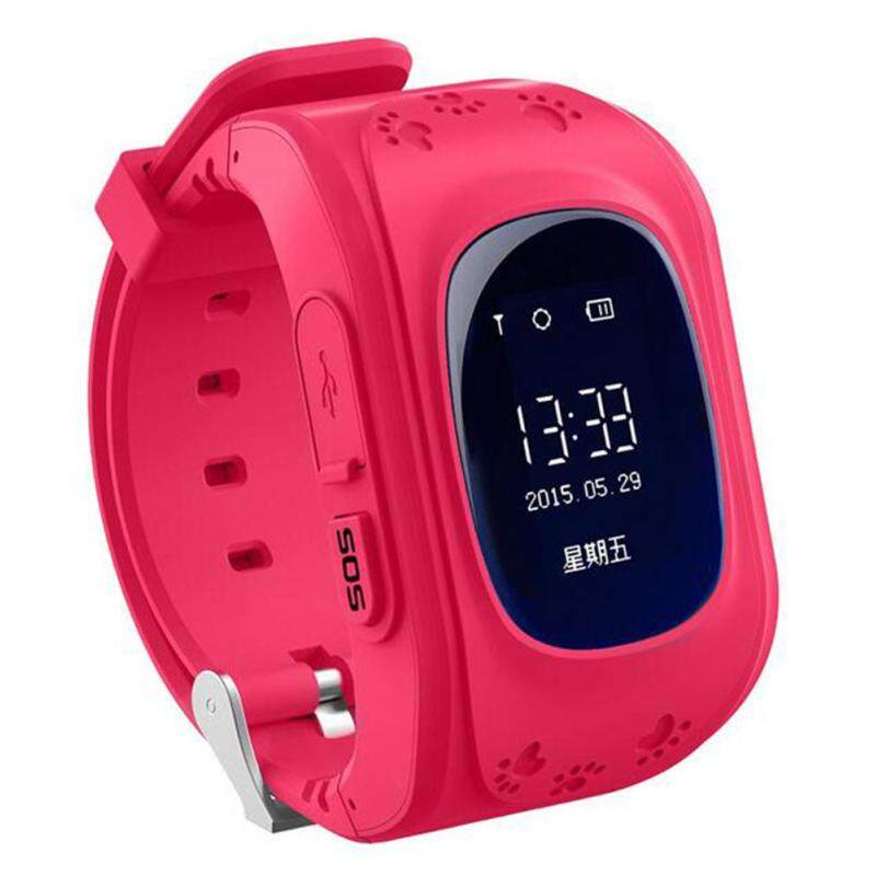 Womdee Kids Safe GPS/GSM Watch Wristwatch SOS Call Anti Lost Smartwatch For Kids, Red Malaysia