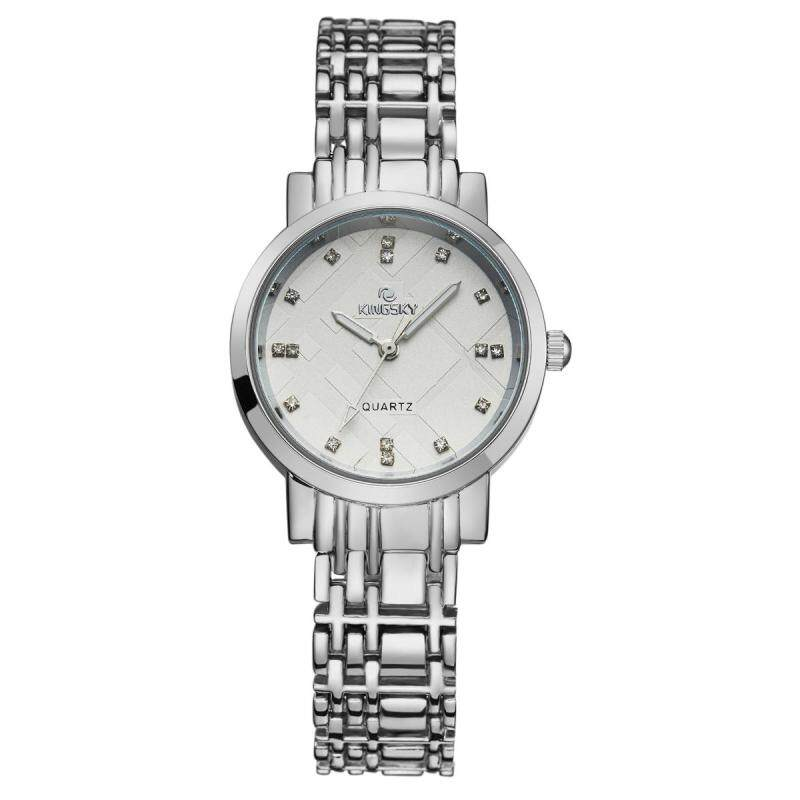 Womdee Kingsky new watch quartz watch manufacturers custom personality table fashion watch (Silver) Malaysia