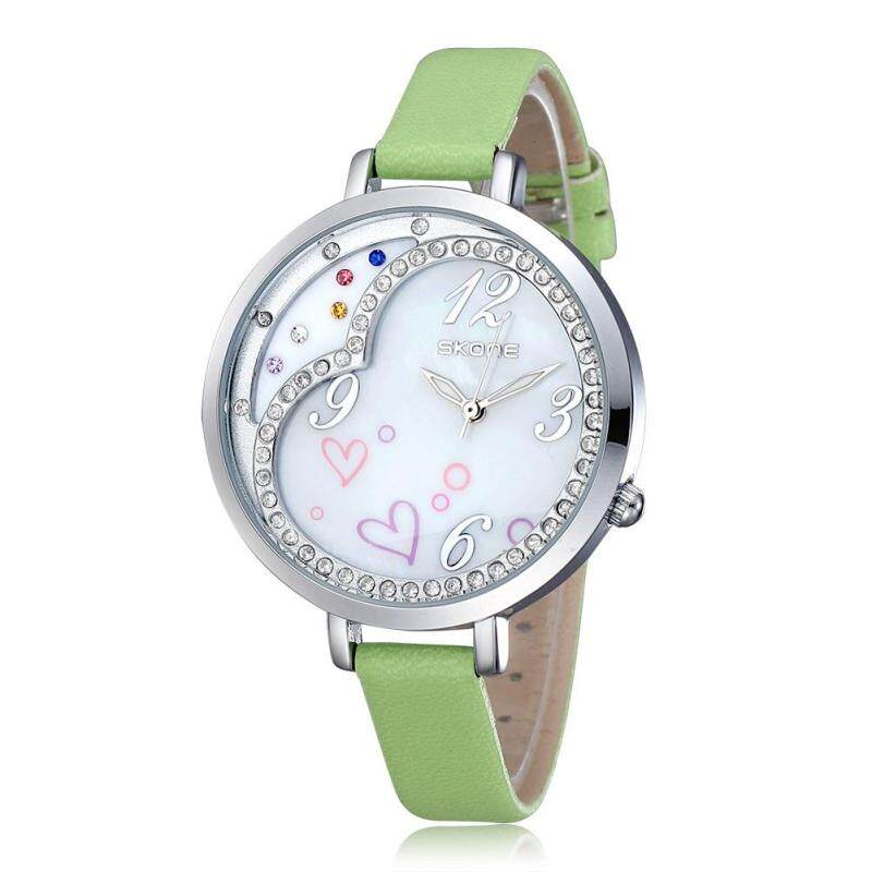 Womdee skoneSKONE love fashion watches shell dial diamond watch Ms. (green) Malaysia
