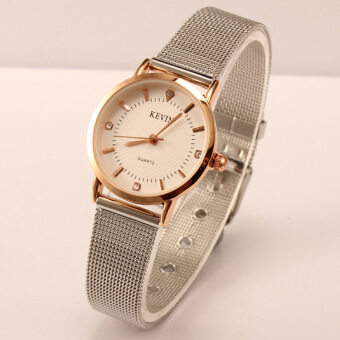 Women Watch Fashion Silver Thin Case Analog Quartz Alloy Watch Band Crystal Dial Ladies Business Business Wrist Watch