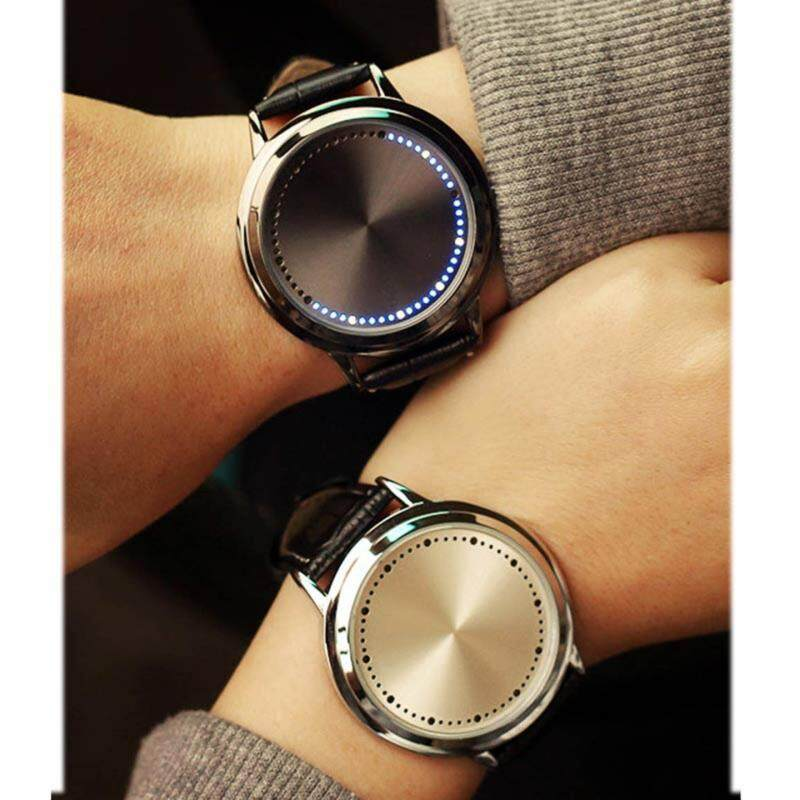YBC 1 Pair Couple Watch Leather Touch Screen LED Watches with Blue Light Malaysia