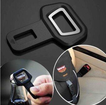 Yika 2pcs Car Vehicle Safety Seat Belt Buckle Insert Warning AlarmStopper + Opener (Black) - 5