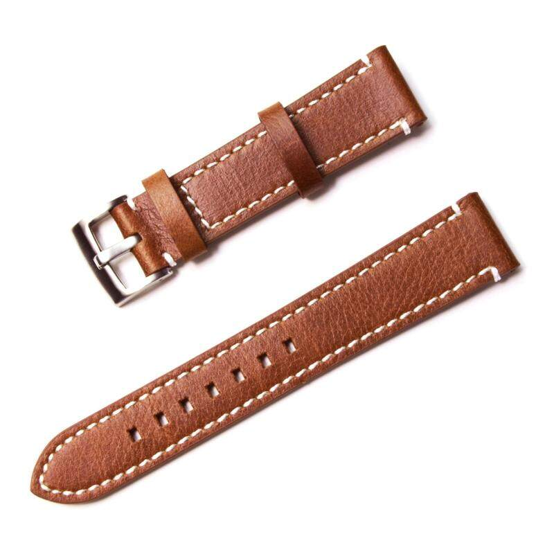 YY Genuine Leather Wristwatch Watches Band Strap 20mm Woman Man Watchbands Belts Stainless Steel Strap Clasp Bracelet Buckle Malaysia