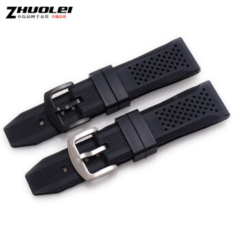Zhuo Lei bracelet high quality soft natural rubber strap softsilicone with men's waterproof 22mm30mm 24mm - 2