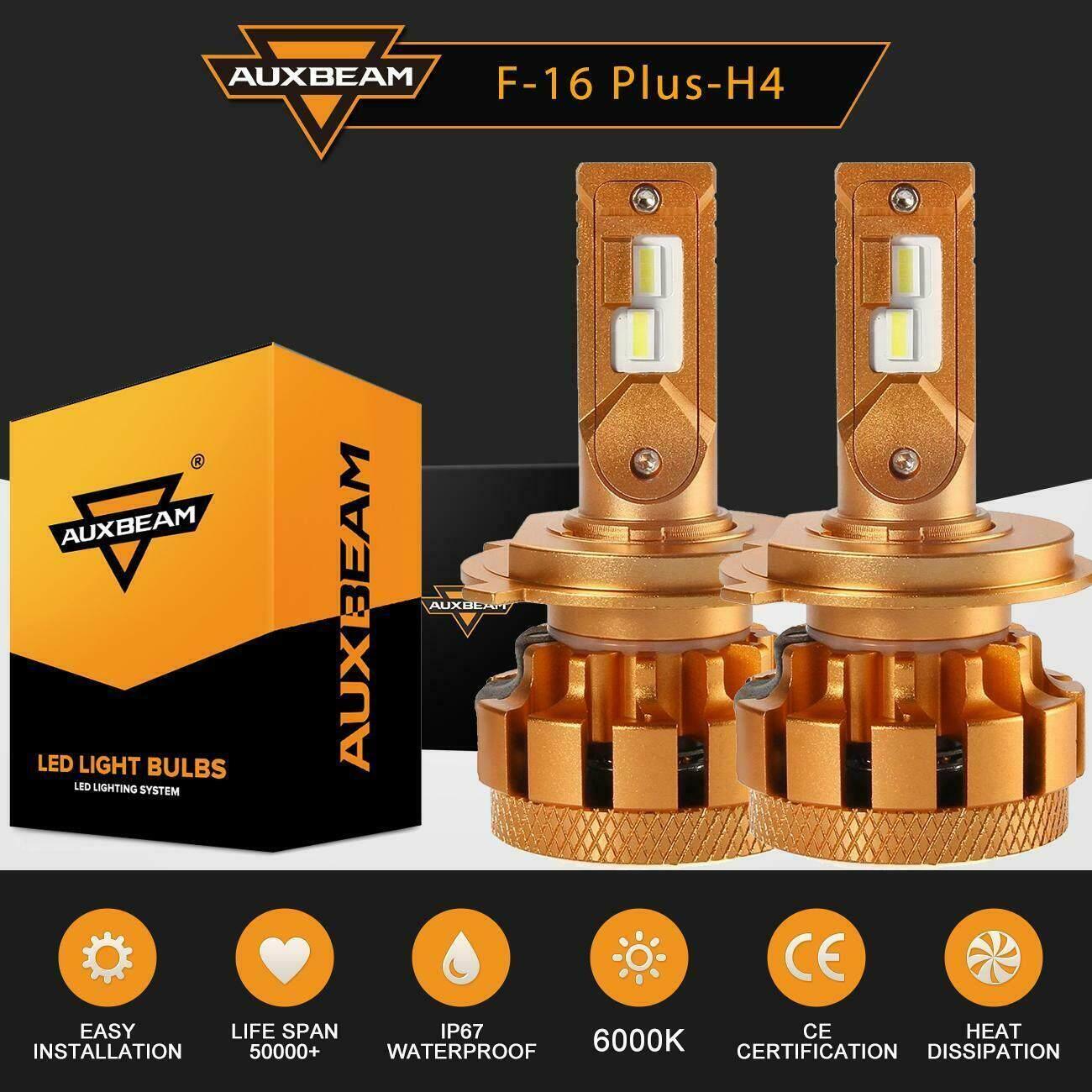 AUXBEAM T1 SERIES H4 9003 LED Headlight Hi-Low Bulbs 70W 8000LM White 6500K MINI