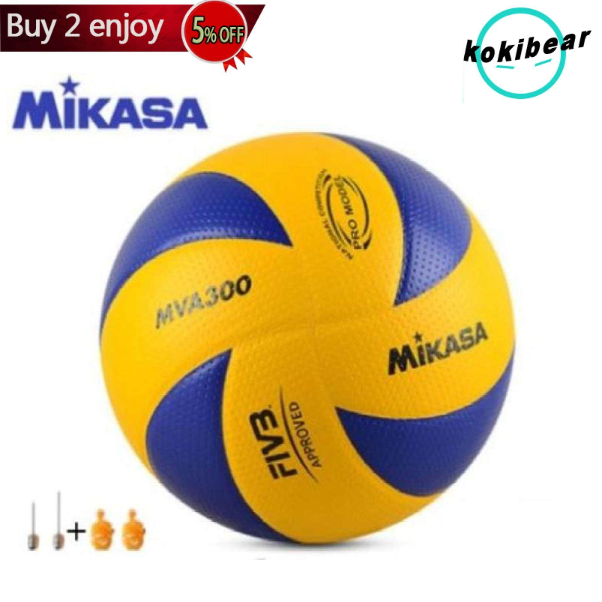 Flash Deal Official Mikasa Mva300 National Designated Ball Volleyball Free Net Needle Lazada