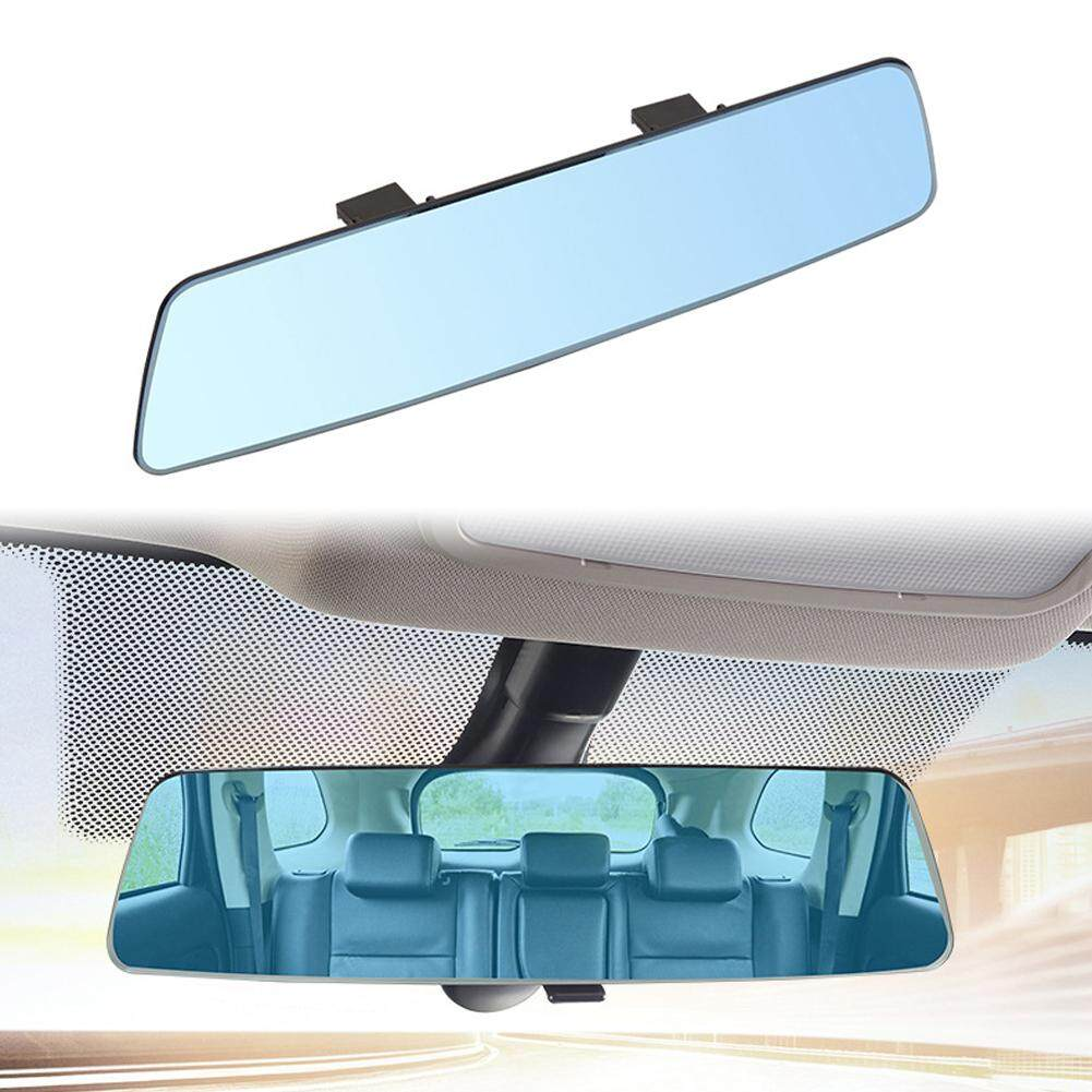 i-Shop Auto Car 300mm Wide Convex Curve Interior Clip on Panoramic Rear View Mirror