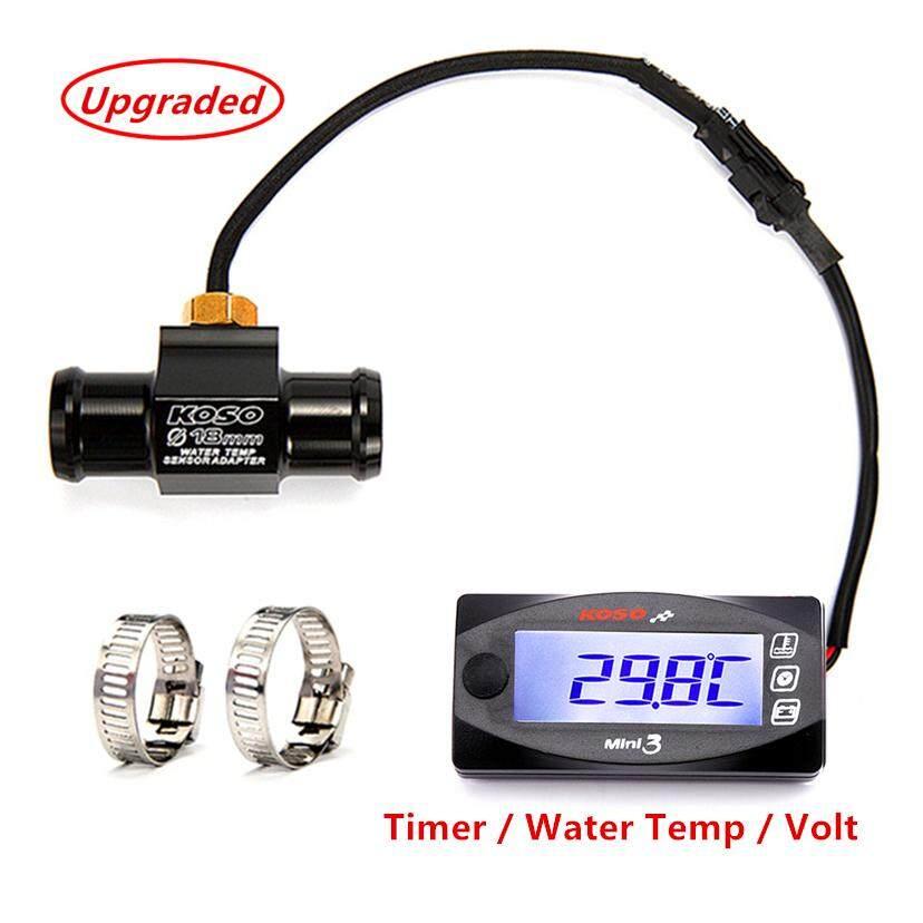 Motorcycle Waterproof Slimline Thermometer LED Engine Water Temperature Gauge