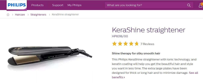 Philips HP8316/00 Kerashine Hair Straightener 5
