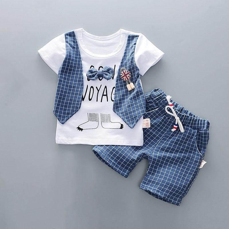 Shorts Pants Casual Outfits Set 2Pcs Baby Kids Boys Short Sleeve Tops T-shirt