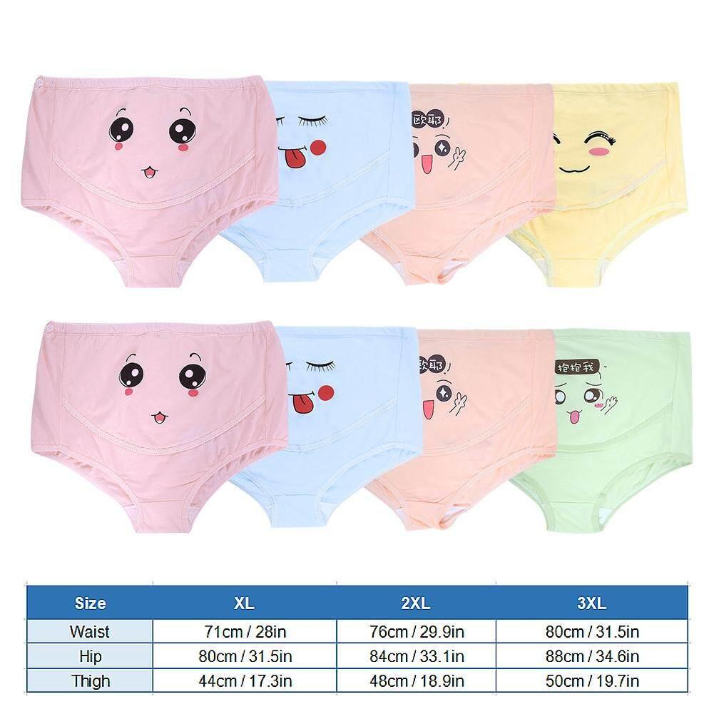 4 Pcs Wanita Pinggang Lebar Wanita Lucu Celana Dalam Ibu Hamil Kartun Celana Pakaian Dalam Hamil