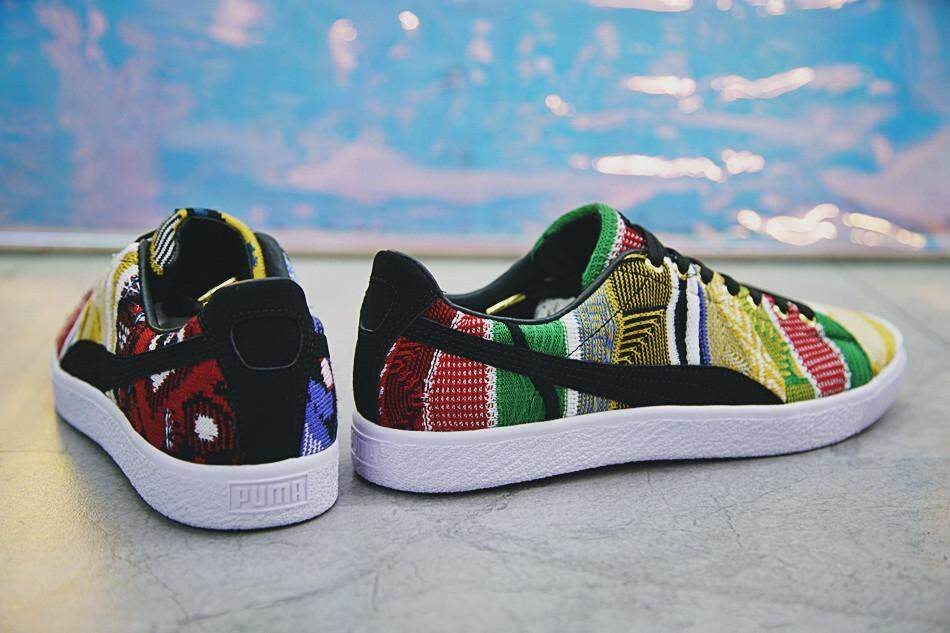 """new product 96f0c 1845b COOGI x PUMA Clyde Clyde Vintage Sneakers """"All Over Sweaters"""" Color Knit  364907-01"""