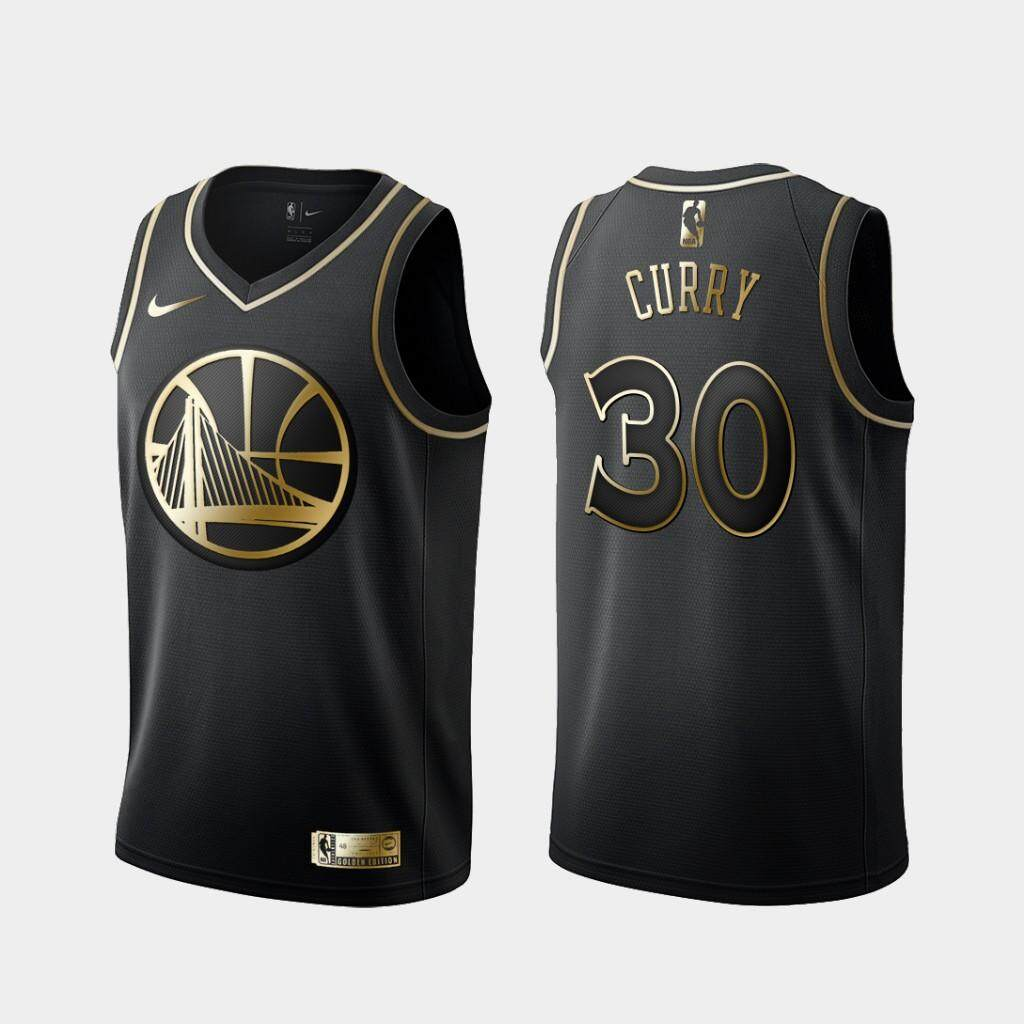 big sale c4bff 66418 Men and Women NBA Basketball Uniform All-star Golden State Warriors Team  No. 30 Jerseys CURRY Students Sports Basketball Vest(BLACK Gold)