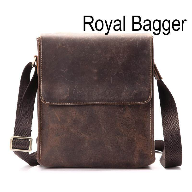 Royal Bagger Shoulder Sling Bag Crossbody Bags For Men Genuine Cow Leather  2019 New Fashion Sling Bag Cool Business Casual