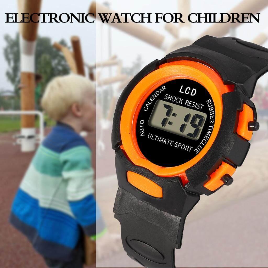 Children Girls Analog Digital Sport Led Electronic Waterproof Wrist Watch New Watches