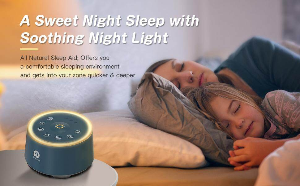 Dreamegg Sound Machines for Sleeping White Noise Machine with 21  Non-Looping HIFI Sounds, 3 Auto-off Timer, Soothing Night Light, Portable  Sound