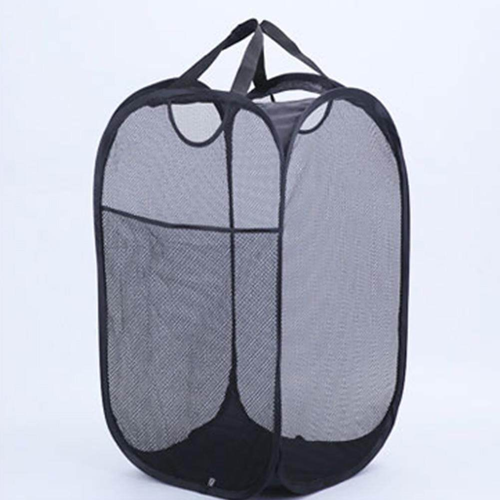 124fd504ca10 Storage Mesh Laundry Basket Portable Home Washing Clothes Large Steel Wire  Foldable