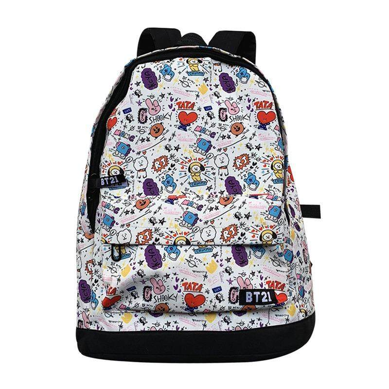 dd215569428 CANDY BTS Bangtan Boys BT21 Printing Backpack Students Boys Girls Bookbag  Travelbag Rucksack