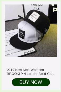 af953035d 2019 New Men Womens BROOKLYN Letters Solid Color Patch Baseball Cap ...