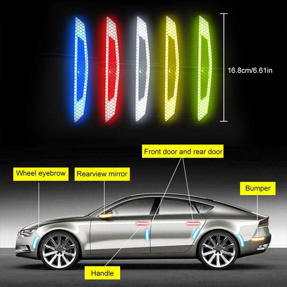4X Car Edge Anti-collision Strip Bumper Protector Protective Guard Bar Anti-slip