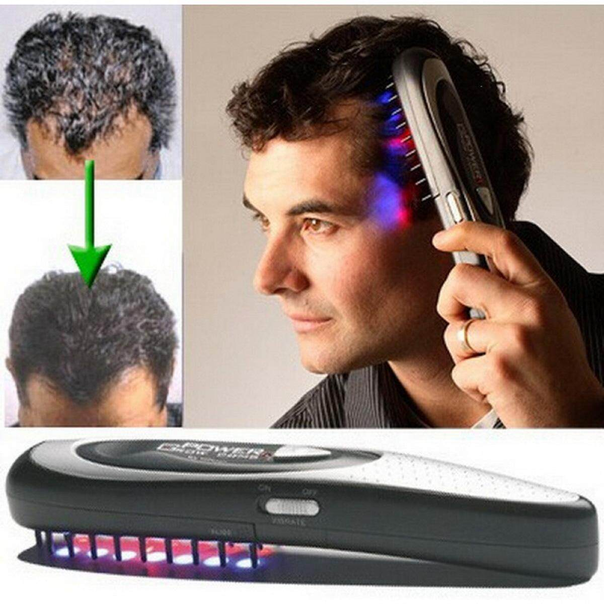 Electric Wireless Infrared Ray Growth Laser Anti Hair Loss Hair Growth Care  Vibration Head Massage Comb Massager Head Z36