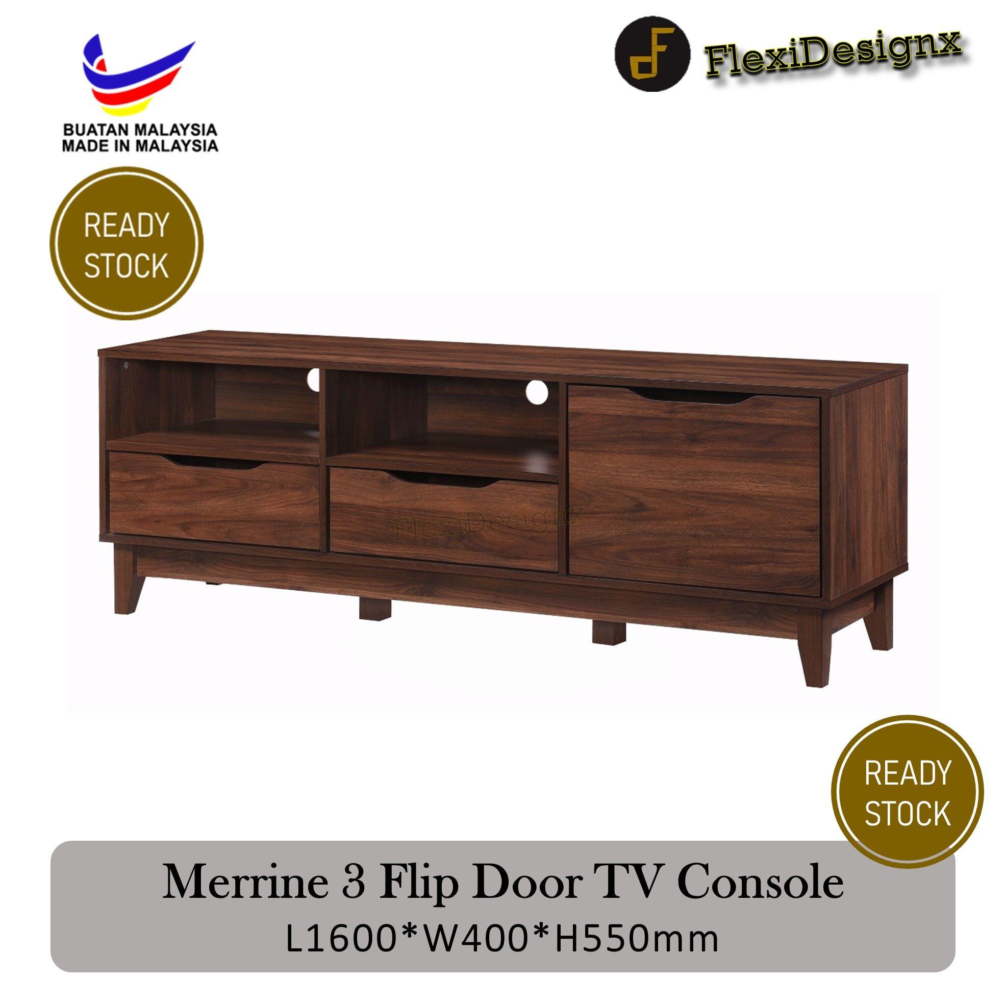 Flexidesignx Alyssa Solid Durable Compartment Tv Cabinet Tv Console Modern Design Natural Grey 6ft Best Choice Lazada