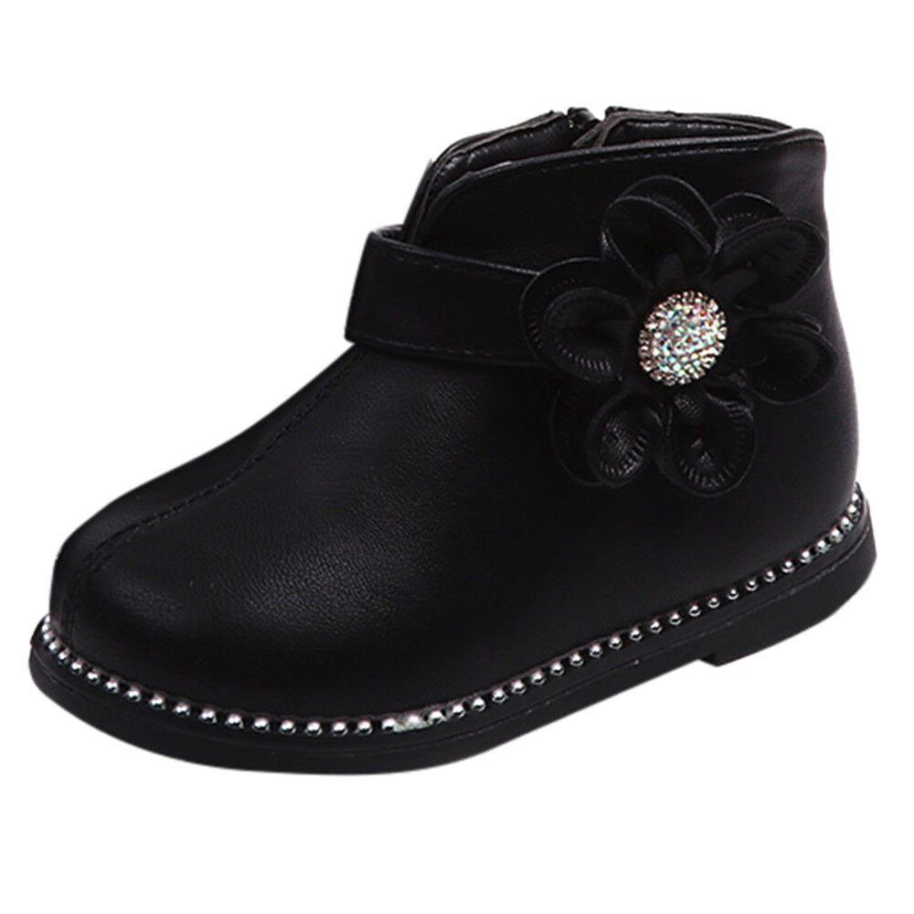 Baby Children Warm Boys Girls Floral Martin Sneaker Boots Kids Baby Casual Shoes