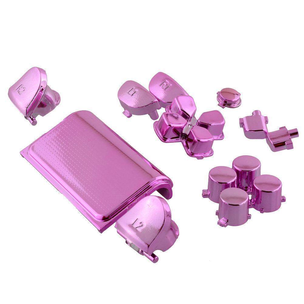 Hot Full Buttons Mod Kits Set Chrome Pink For Playstation 4 PS4 Controller  Joystick Video Playstation
