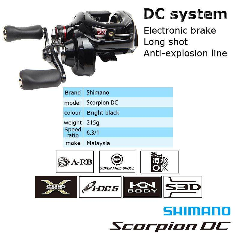 SHIMANO Scorpion DC Fishing Reel Fishing Boat Wheel Fish