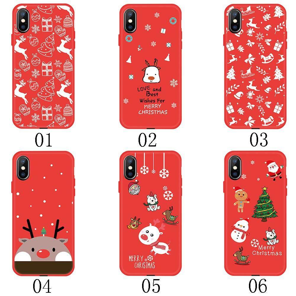Christmas Phone Case Iphone Xr.Red Tpu Phone Case Cute Painted Christmas Phone Case For Iphone 6 6s 7 8 Plus X Xr Xs Max