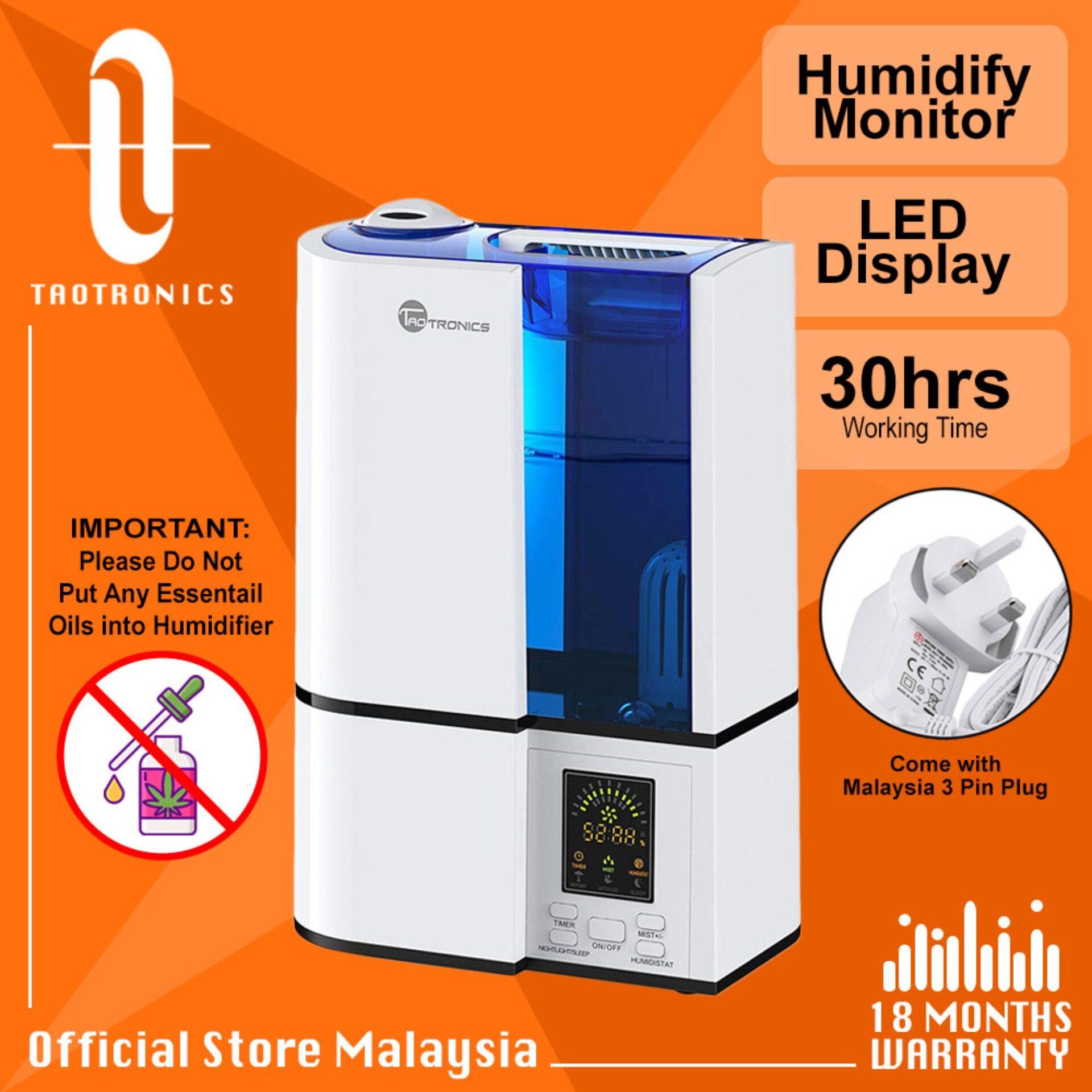 Black or White TaoTronics TT-AH001 Cool Mist Humidifier