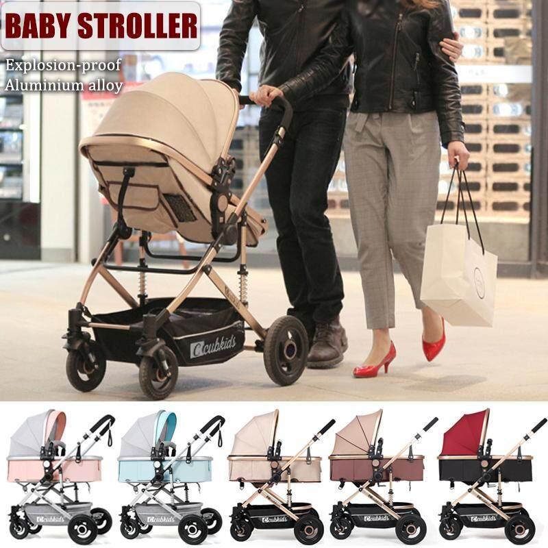 Baby Stroller 3 in 1 Pram Foldable Pushchair Anti-Shock Reclining Anti-explosion