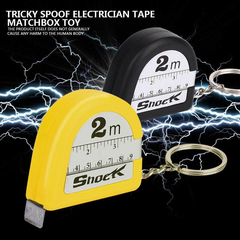Bestprice Tape Measure Electric Shock Toy Electric Ruler Funny Plastic  Black Yellow April Fools' Day Tricky Prank