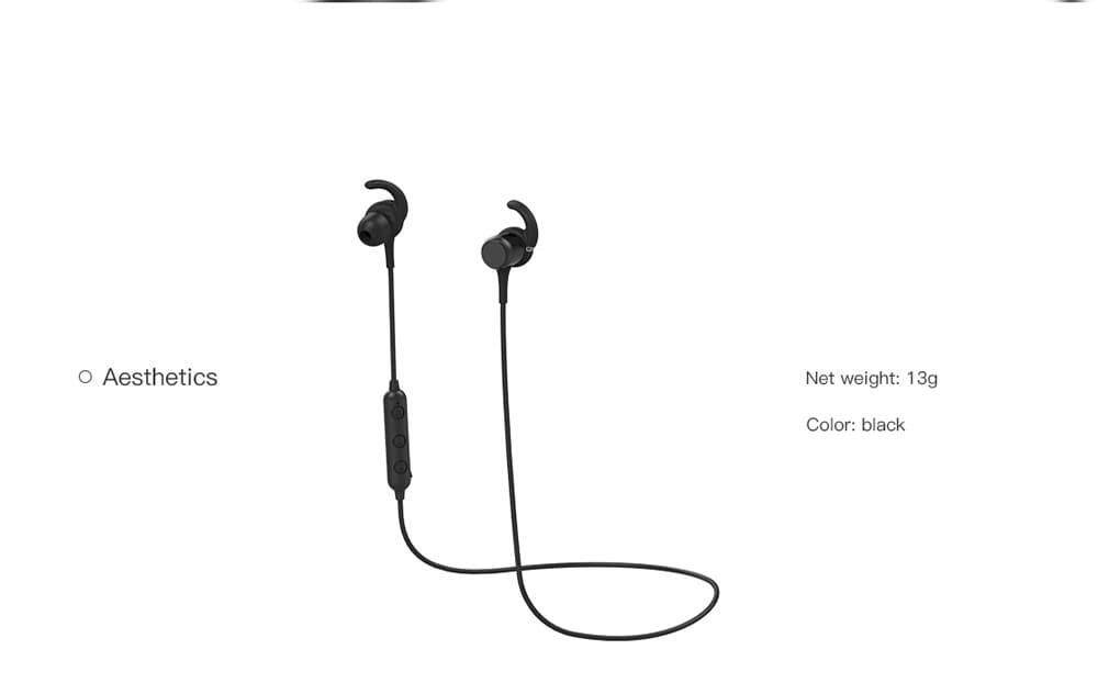 QCY M1C Bluetooth Earphones Wireless Magnetic Buds- Black
