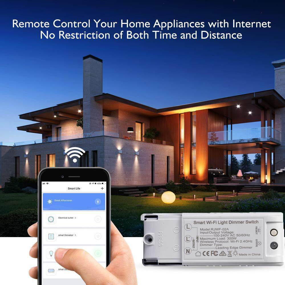 Habuy WiFi Smart Light Switch DIY Dimmer Module Light Switch Wireless  Remote APP Control Works with Alexa Google Home Automation