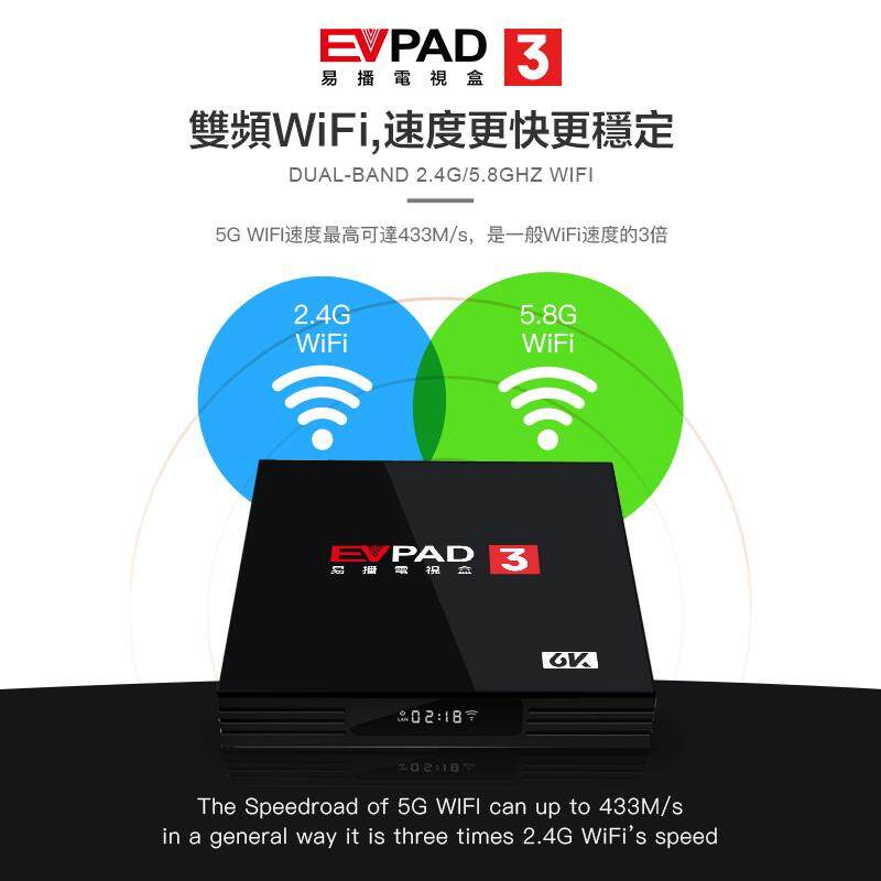EVPAD 3 Android tv box 2G 16GB with free IPTV of Chinese Korea Japan India  Indonesia HK Taiwan Singapore Malay US, Football game
