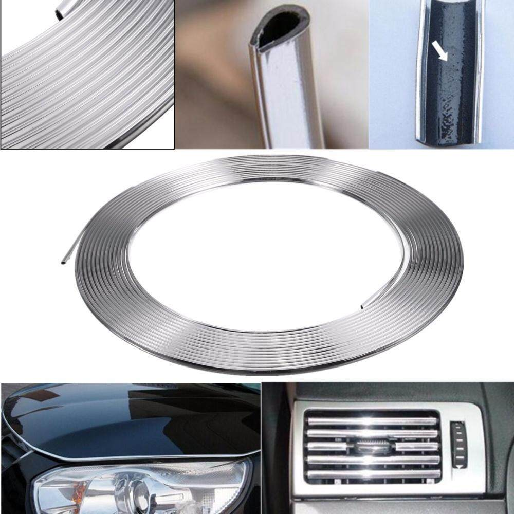 13m Silver Chrome Car Exterior Styling Moulding Strip Car Body Adhesive Trim