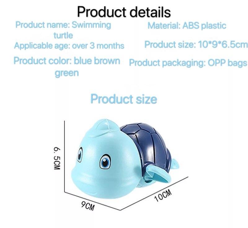 Đồ chơi nhà tắm rùa có mũ bơi vặn cót siêu cưng chất liệu an toàn cho bé thỏa sức vui chơi - INTL 7