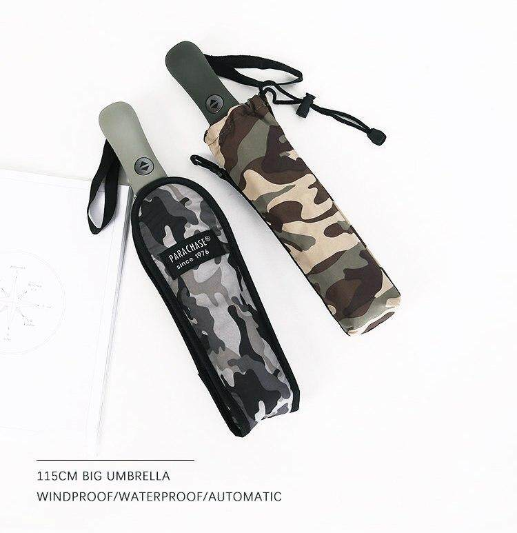 b3483d3ebbf5 Parachase Automatic Umbrella Men Women Large Folding Camouflage Style  Umbrella Windproof Paraguas 8 Ribs Big Golf Umbrella Rain Malaysia