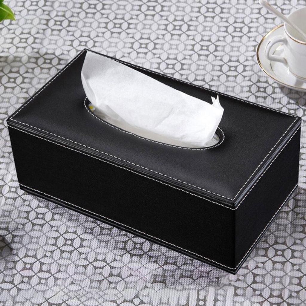Amleso Facial Tissue Cover Box Holder For Bathroom Vanity Countertops Desk Office Dorm Black Lazada Ph