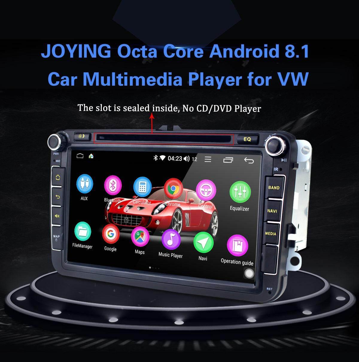 JOYING android 8 1 car stereo head unit 2 din 8inch touch screen radio for  Skoda/Seat/Volkswagen/VW/Passat b7/POLO/GOLF 5 6/Jetta car multimedia