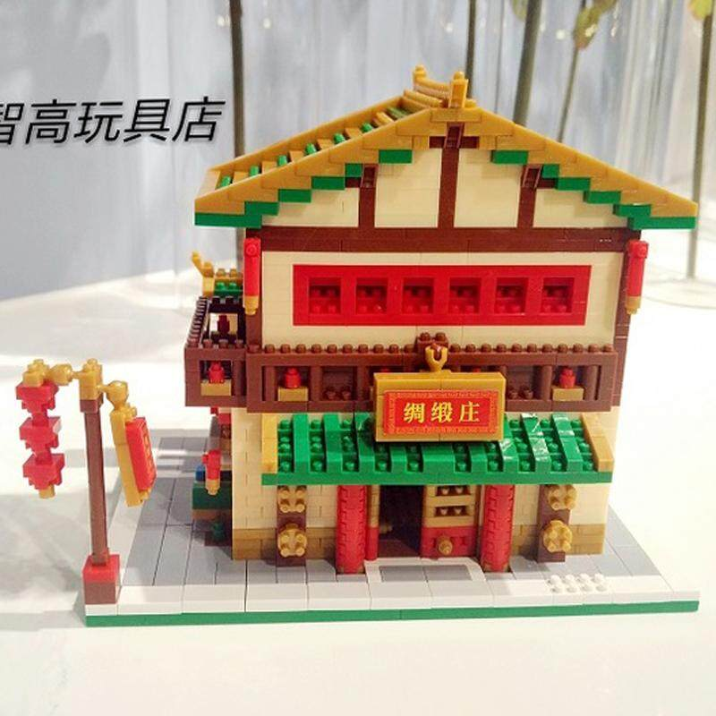 BS Ancient Architecture Wine Pub Store Shop Diamond Mini Building Nano brick new