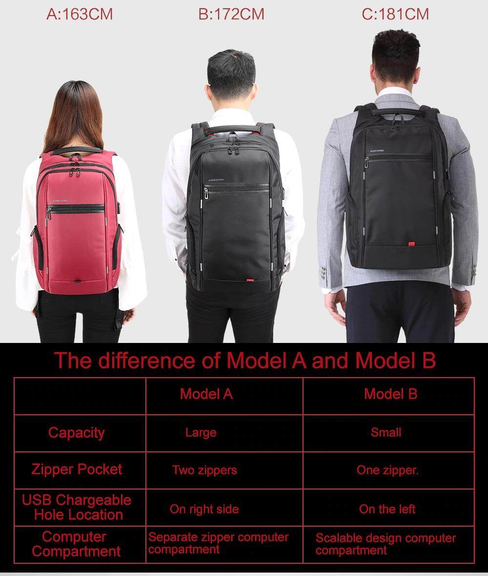 Genuine Authentic Direct Ship from Malaysia Kingsons Power Series Smart  Anti-Thief Travel Outdoor Business Casual 15 6 17 3 Inch Waterproof Laptop