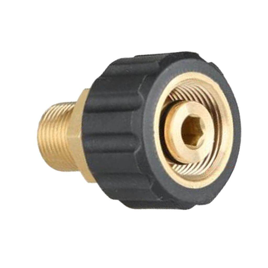 Pressure Washer Twist Connect M22F to G3//8F Solid Brass Coupling Adapter